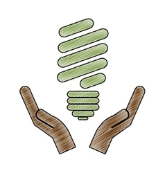 Eco friendly lightbulb icon image vector