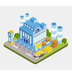 Isometric Factory Building vector image
