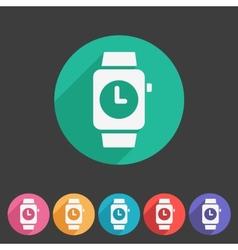 Watch icon sign symbol logo label set vector image vector image