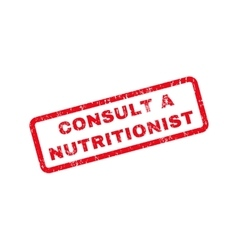 Consult a Nutritionist Text Rubber Stamp vector image