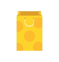 design template with paper bag vector image