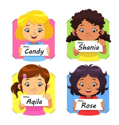 Girls Name 1 vector image vector image
