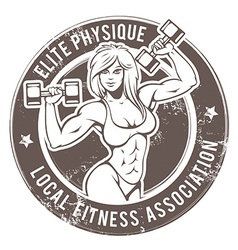 Gym Lady vector image vector image