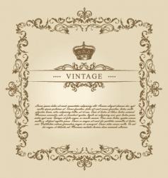 vintage frame decor ornament vector image vector image