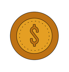 coin cash icon image vector image