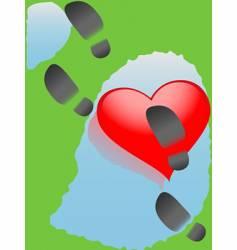 downtrodden heart vector image vector image