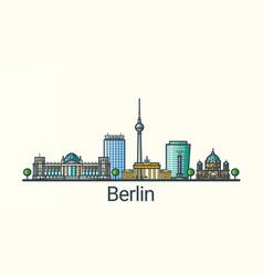 flat line berlin banner vector image