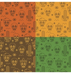 mexican patterns vector image