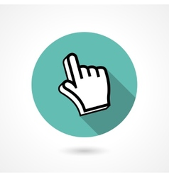 pointing finger icon vector image