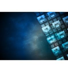 Tech design vector image