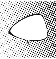 Triangular speech bubble pop art vector