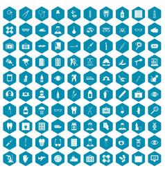 100 doctor icons sapphirine violet vector image