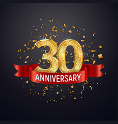 30 years anniversary logo template on dark vector image