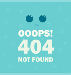 404 error page not found emoticon vector