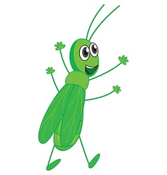 A smiling grasshopper vector image