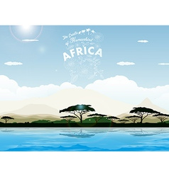 Africa - the cradle of humankind vector