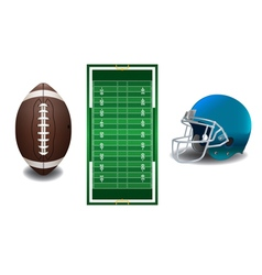 American Football Field Ball Helmet vector