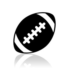 silhouette ball american football sport royalty free vector rh vectorstock com american football vector files american football vector free