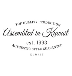 Assembled in Kuwait rubber stamp vector