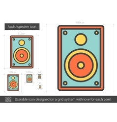 Audio speaker line icon vector