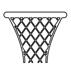 basketball basket streetball net basket icon vector image