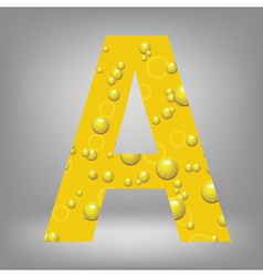beer letter A vector image