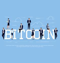 bitcoin business concept vector image