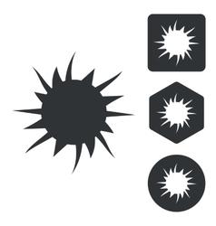 Burst icon set monochrome vector