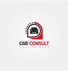 Car consultation icon templatecreative logo vector