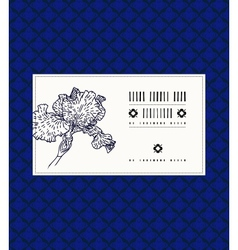 Card with iris flower vector