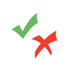 check mark and cross vector image
