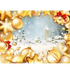 Christmas frame for text EPS 10 vector image