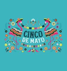 cinco de mayo mexican fiesta banner and poster vector image