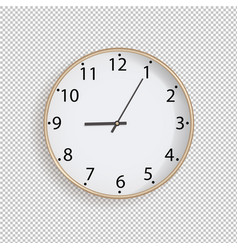 clock on transparent background vector image