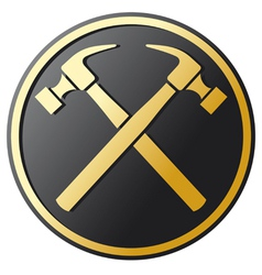 crossed hammer symbol vector image