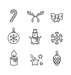 Cute black and white icons vector