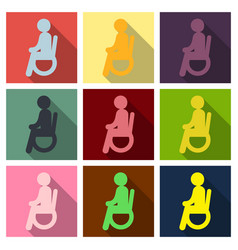 Disabled man isolated on background a man vector