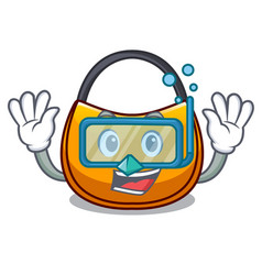 Diving beautifully hobo bag on character funny vector