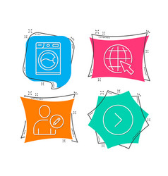 Edit user internet and washing machine icons vector