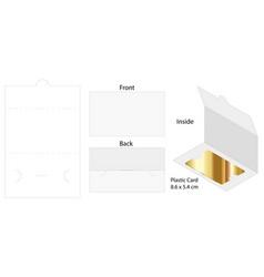 Envelope die cut mock up template vector