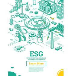 Esg concept environmental social and governance vector