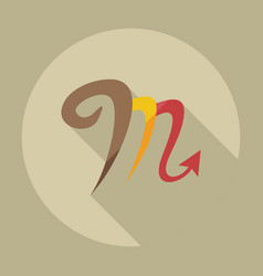 Flat modern design with shadow icons scorpion vector