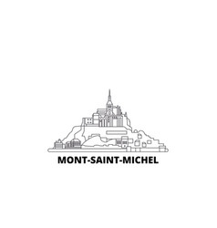 France mont saint michel and its bay line travel vector