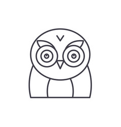 funny owl line icon concept funny owl vector image