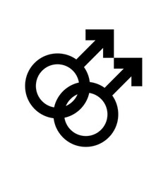 Gay male icon symbol isolated on white vector