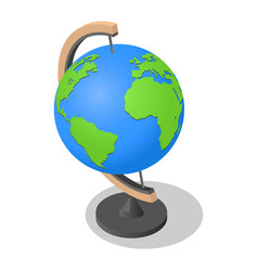 geography globe earth school icon isometric style vector image
