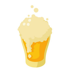 glass fresh beer icon isometric style vector image