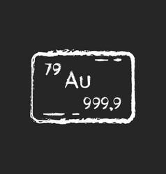 Gold chalk white icon on black background vector