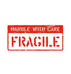 Grunge box sign vintage fragile symbol vector