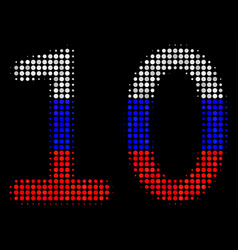halftone russian ten digits text icon vector image